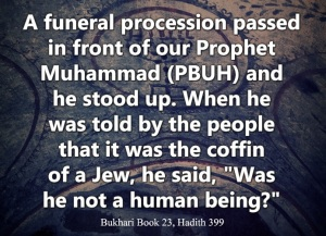 ISLAM Muhammad stood up funeral Jew poster